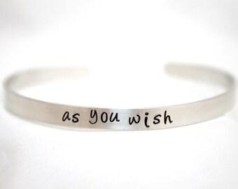 Personalized Silver Bracelet, Customized Hand Stamped Message Bracelet, Custom Jewelry, Personalized Jewelry