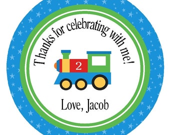 TRAIN FAVOR TAGS/ Printable Digital File/ Party Circles, Stickers, or Tags/ Party Circles/Decorations/Boys Birthday Favors
