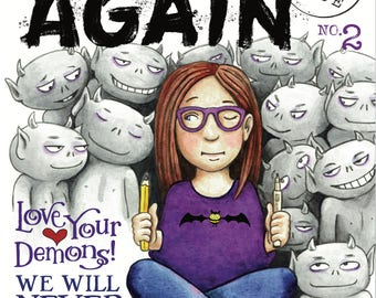 BEGIN AGAIN #2 - The ISSUES Issue (Comic Magazine) print