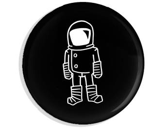 Astronaut Pin back Button Pin Badge Brave Moonman Piece of Flair Cool Gift For Him Magnet Pin Game Strong