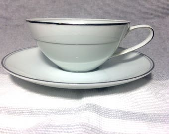 Graycliff by Noritake China Tea Cup and Saucer 5861 Japan