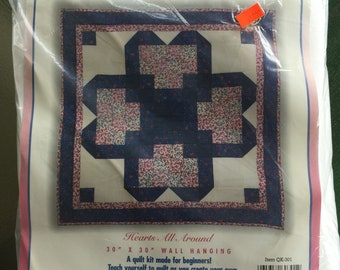 Hearts All Around Quilting Kit