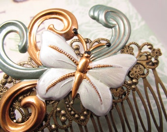 Butterfly Hair Comb Woodland Wedding Vintage Hair combs Bridal Hair Accessories Decorative Combs