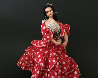 Vintage Doll Spanish Flamenco Dancer