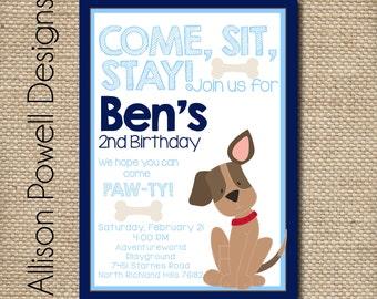 Puppy-Dog-Puppy Dog Birthday Party Invitation -Birthday Party Invitation