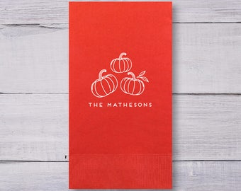 Thanksgiving Napkins, Guest Towels, Party Napkins, Guest Towels, Thanksgiving Decor, Pumpkin Napkins, Bathroom Napkins, 1419