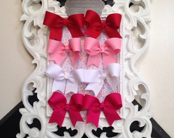 Boutique Baby Infant Toddler Hairbow    Pigtail set Piggies Valentine Love colors starter set alligator hair clip clippies
