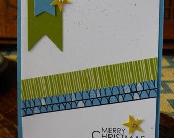 Merry Christmas - Merry Christmas Card - Christmas Card - Holiday Card - Handmade Card - Greeting Card - Holiday Season - Gift - Gift Ideas