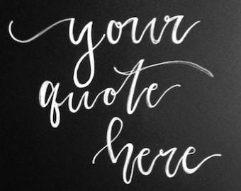 Custom lettered canvas