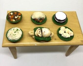 Miniature Irish Food Buffet