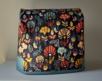 Floral Mixer Cover - Dust Cover for a KitchenAid Artisan 5 Qt Mixer - Mixer Cover for the Classic 4.5 Qt Tilt-Head Stand Mixer - Mixer Cozy