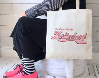 All Good In The Knitterhood | Knitting Sisterhood | Knitting Project Bag | Knitting Tote | Knitting Gift | Knitting Gang | Knitting Friend