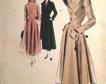 1950s Vintage VOGUE Sewing Pattern B38 COAT (1387)  Vogue 490