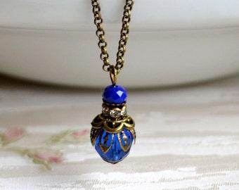 Bridesmaid necklace Navy blue Bridesmaid Jewelry Dark blue jewelry Bridesmaid Gift Blue necklace for wedding Sapphire blue necklace