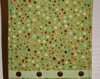 Green Multi Colored Dots Cell Phone Fabric Case iPhone5 Protective Cover iPod Case