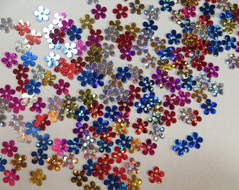 Small Flower Sequins - Hologram Type, Mixed colors