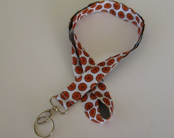 Basketball Lanyard Keychains, Cool Lanyards for Keys, Id Badge Holder Necklace Lanyards, Cute Lanyards for Badges, Coach Gift