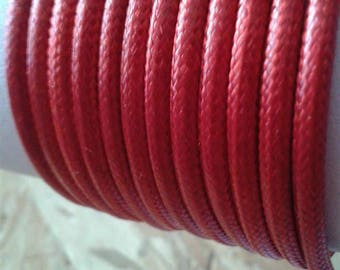 3mm red faux leather cord
