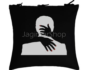 Cotton Black Embrace Your Pernted Love Designer Cushion cover For Home Decor 2PCS