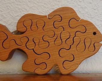 Vintage Wood Fish Jigsaw Puzzle Ticino Italy