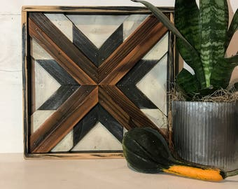 Reclaimed Wood Art, Quilt Square