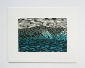Giclee Print, 'Ghost in the Machine', 11x14 White Mat - Surf Art from Hawaii