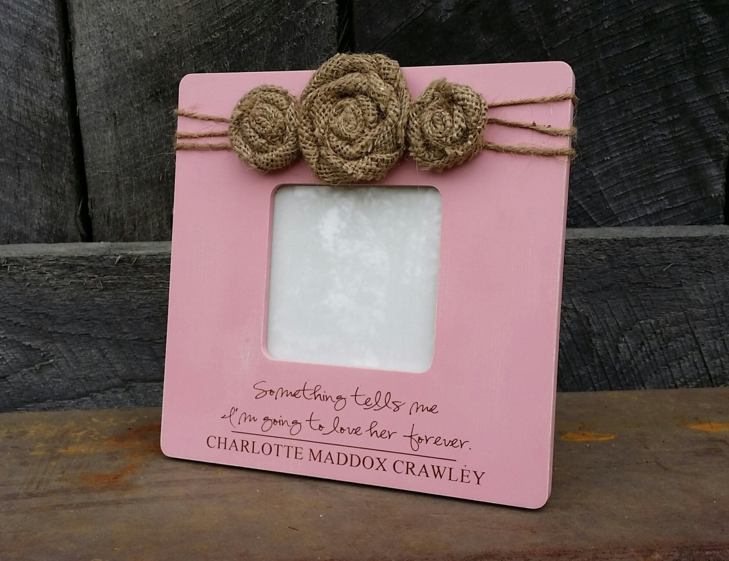 Personalized Photo Frame - Baby Girl Picture Frame - Baby Love ...