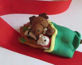 L'il Howie Dreaming - Moose Christmas Ornament