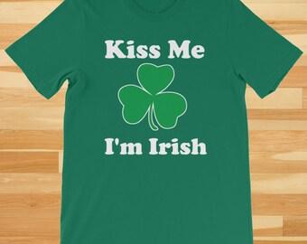 Kiss Me I'm Irish, St Patricks Day Shirt, St Patricks Day Outfit, Irish Shirt, St Patty Shirt, St Patrick Tee, St Patty Tee, St Patrick