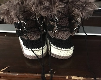 Baby snow boot booties