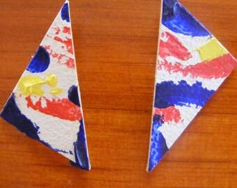 Triangle Splash Earrings