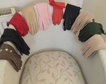 1920s – 1980s selection of vintage ladies gloves