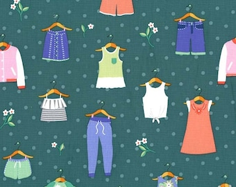 Michael Miller - Paper Doll Park - Dress Up - Spring - CX8185 SPRI D - 100% cotton fabric - Fabric by the yard (s)