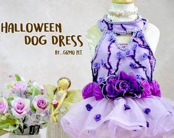 Dog dress halloween day,dog dress,dog clothing,dog clothes, color purple (Limited)