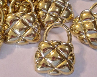 Gold Purse Buttons Lot of 5