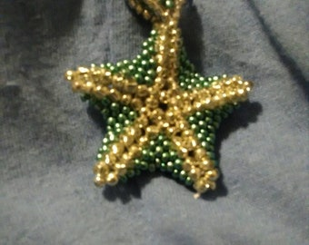 Teal and silver starfish