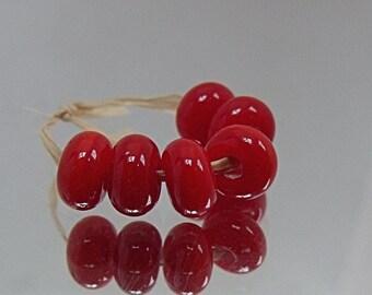 Strawberry, Artisan Lampwork Glass Beads, SRA, UK