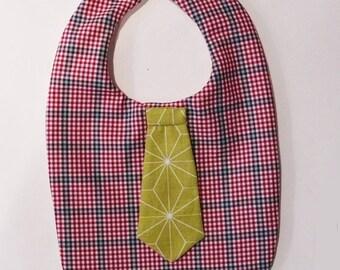 Boy bib, shirt and tie
