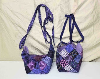 Mini Bitty Bag Purse Bag Quilt Patchwork Design and Lined