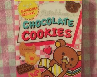San-X Rilakkuma Chocolate Cookies mini memo pad