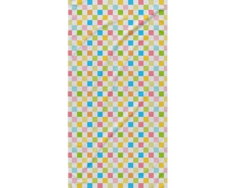 Garden Bug Beach Towel - Style 4 - Pastel Checks