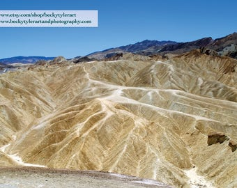 Zabriskie Point, Death Valley National Park, Fine Art Photo Print
