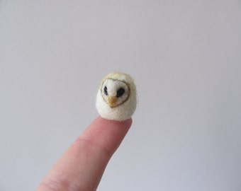 Tiny needle felted barn owl