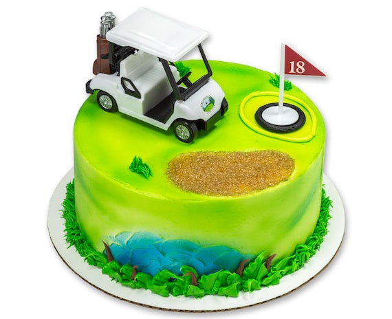Golf Cart Cake Topper Kit Golf Lovers Cake Kit Idea