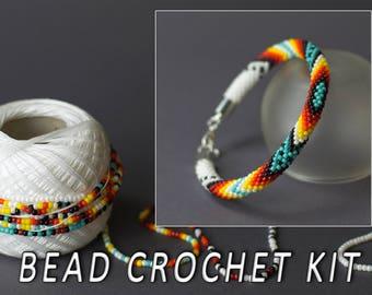 Diy jewelry making etsy diy jewelry making kit bead crochet diy kit ethnic bracelet do it yourself solutioingenieria Choice Image