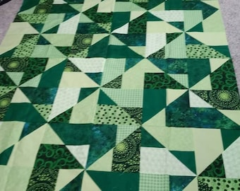 Green is green is green quilt top