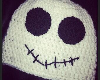 Ghost Beanie   Halloween Beanie   Ghost Cap   Halloween Costume   Fall Beanie   Halloween Ghost   Ghost Hat   Crocheted Ghost Beanie