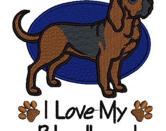 Bloodhound Dog Embroidered Towels, Dog Towels, Personalised Towels, Bloodhound 3