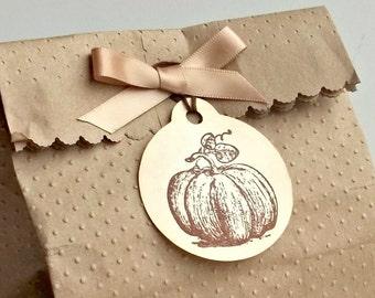 Pumpkin Tags - Thanksgiving Tags - Autumn Tags - Halloween Gift Tags