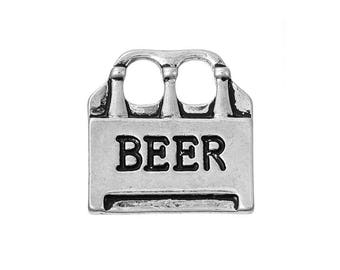 5 Beer Charms in Silver Tone - C2637